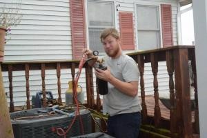 Ryan working on the installation of a new unit for SDTR.
