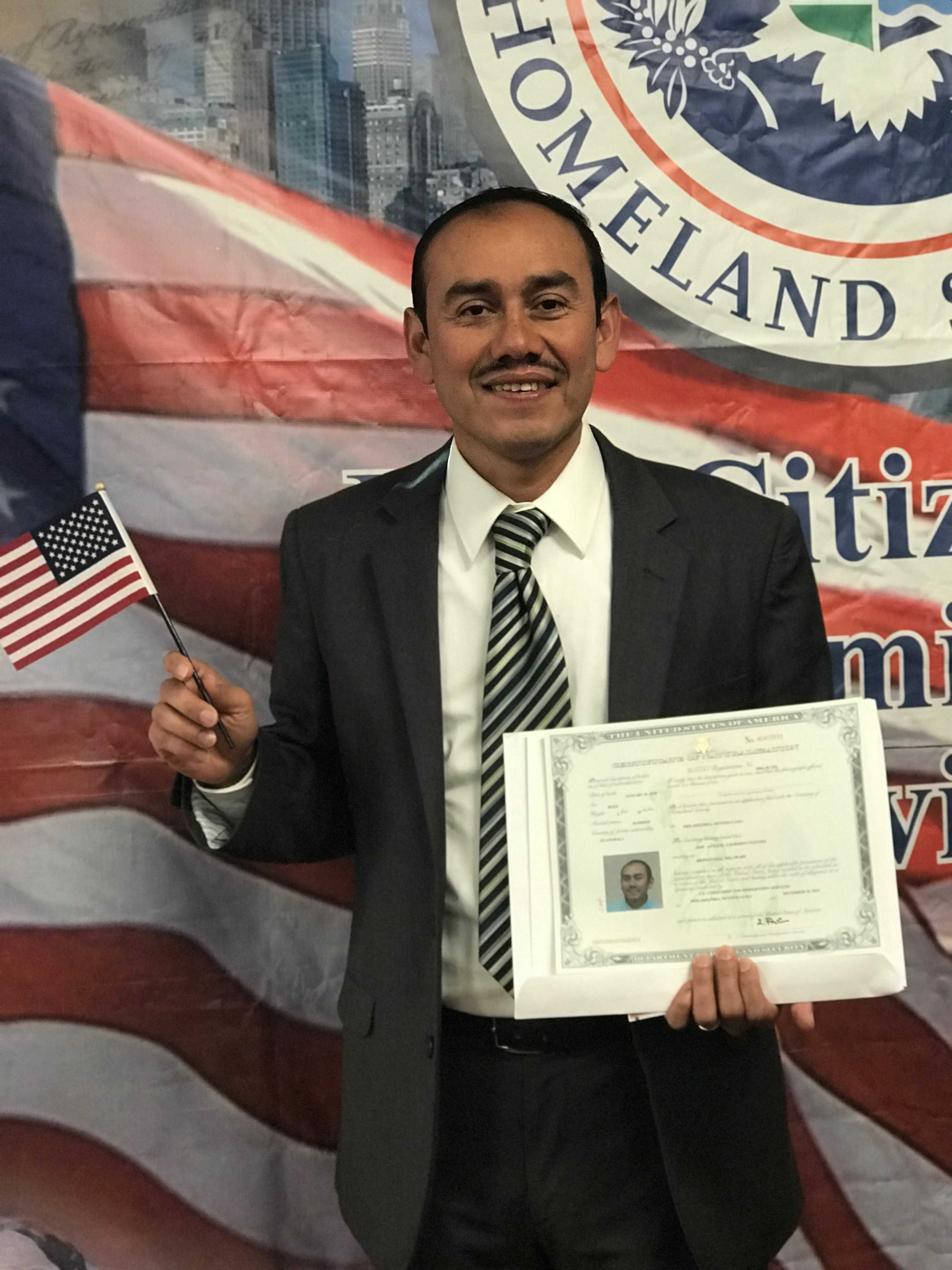 Jose Calderon Fuentes Naturalization Ceremony